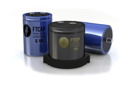 Aluminium-Elektrolytkondensatoren von FTCAP sind auch mit Gewindeanschlüssen erhältlich