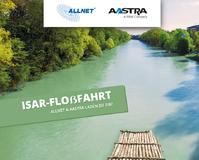 ALLNET und Aastra laden zur gemeinsamen Isar-Floßfahrt