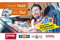 """Kögel unterstützt Gutscheinaktion für Berufskraftfahrer auf VEDA-Autohöfen – """"Unser Held bist Du!"""""""