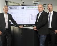 Freuen sich über die gelungene IT-Migration für die ZFA von rund 8000 Zählern innerhalb weniger Monate: v.l. Hans-Joachim Lueg (KISTERS AG), Thomas Beaupain, Sven Nuhn (beide ENM). (Quelle: KISTERS)