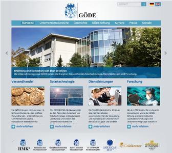 www.goede.com – Die neue Homepage der GÖDE Gruppe