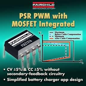 PWM Controller für Regelung auf der Primärseite von Fairchild Semiconductor vereinfachen das Design und reduzieren den Platzbedarf