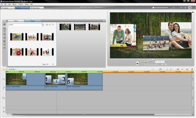 "Pinnacle Studio 12 ""Montage""-Funktion Screenshot summer interface"