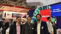 V.l.n.r.: Uwe Klemm (Unit Director New Energy Solutions GISA), Lars Quiring (Vorstand GET AG) und Fritz Hahne (Leiter EVU-Vertrieb GISA)