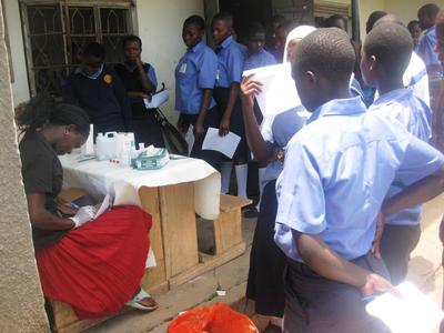 School children participate in regular health care programmes at the initiative of the Family Strengthening Programme