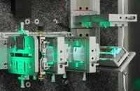 Detail des Innenlebens eines VOLCANO LASER OPTIK Systems