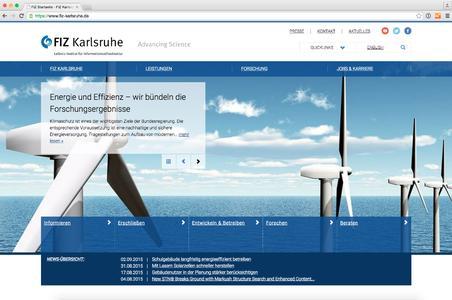 FIZ Karlsruhe präsentiert sich mit seiner neuen Unternehmenswebsite als innovativer Dienstleister und Partner der Forschung.