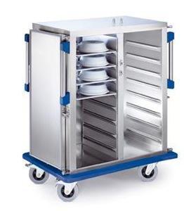 Das besondere Highlight aus dem Blanco-Ice-System: Der Tablett-Transportwagen Ice (TTW Ice) hält die Speisen netzunabhängig kalt, gleichmäßig und HACCP-gerecht. Der mit Flüssigeis gekühlte TTW Ice ist stoßunempfindlich und waschtunneltaugli