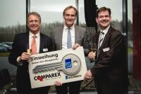 v.l.n.r.: Mag. Wilfried Pruschak (CEO COMPAREX), Burkhard Jung (Oberbürgermeister der Stadt Leipzig), Achim Herber (General Manager COMPAREX Deutschland)