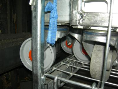 RFID Wheel attached to a Trolley