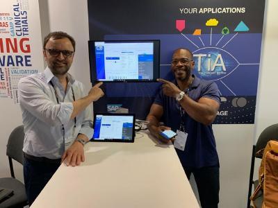 Winfried Althaus, CEO der KGS-Gruppe, und Larry Evans, Senior Director der KGS Software Inc, auf der SAPPHIRE NOW +ASUG 2019 in Orlando / Foto KGS