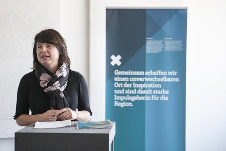 Gastrednerin auf dem Neujahrsempfang der Hochschule Bremen war Staatsrätin Ulrike Hiller / Fotograf: Dennis Welge, Hochschule Bremen