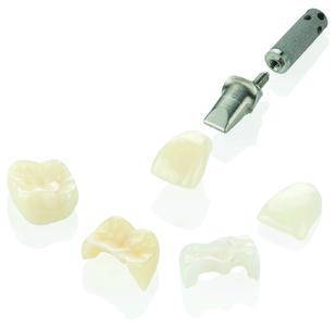 Lava Ultimate CAD/CAM-Restaurationsmaterial ist für die Herstellung von zahn- und implantatgetragenen Kronen sowie für Teilkronen, Inlays und Onlays geeignet / Foto: 3M