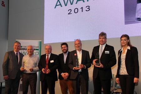 Die Gewinner des Nachhaltige Produktion Award 2013 wurden heute im Rahmen der Industrial GreenTec Conference verkündet