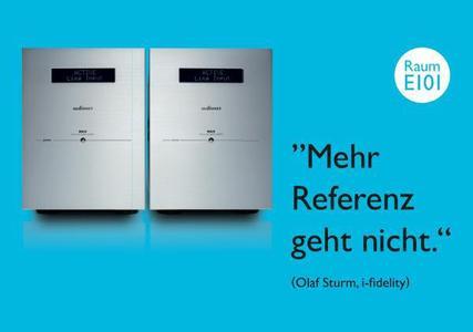 Audionet in München mit Hartmut Esslinger und Jan Geschke. © Getty Images © Audionet