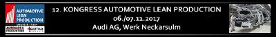 Save the date: 12. Kongress Automotive Lean Production – 6./7. November 2017