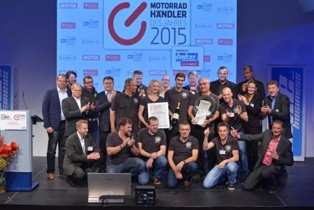 G. Wilhelmsen Motorradtechnik aus Oeversee ist Motorradhändler des Jahres 2015 (Foto: Vogel Business Media).