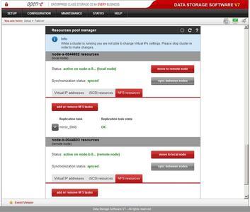 Open E DSS V7 Active Active NFS Failover   Screenshot