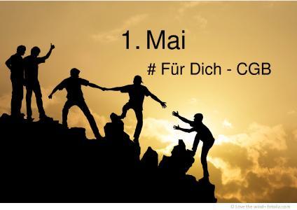 CGB-Maiaufruf Slogan