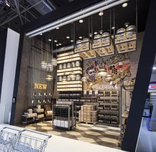 Heavy Metal, Industriebeton, Graffiti und Ladenbausysteme von Wanzl sind das angesagte Store Design für Craft-Beer-Brauer und junge Winzer (Fotos: Wanzl Metallwarenfabrik GmbH)