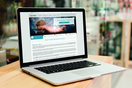 Screenshot der neuen der Retail Management Suite (edrms) Webseite