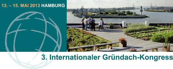 Besuchen Sie den 3. Internationalen Gründach-Kongress in Hamburg