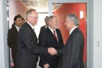 Landrat Rolf Christiansen, Ministerpräsident Dr. Harald Ringstorff und Ralph Koopmann