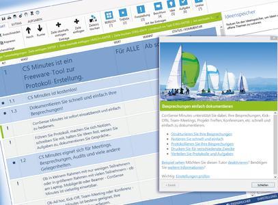 ConSense Minutes: Kostenlose Besprechungsprotokoll-Software mit Anbindung an Maßnahmenmanagement