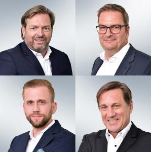Von links oben nach rechts unten: Christof Marx, Axel Hinz, Guido Schmid, Svend Hartog / Bilder: Gerry Ebner