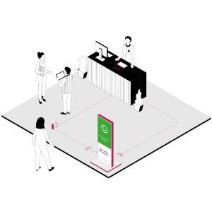 DS-Visitor-Control von IAdea Deutschland ist ein aufgrund der Digital-Signage-Technologie flexibel einsetzbares Einlasskontrollsystem für Gebäude und Flächen