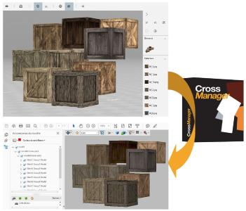Texturierte OBJ-Datei mit CrossManager in 3DPDF konvertiert. Texturen bleiben erhalten. OBJ-Modell von Turbosquid