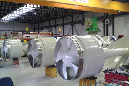 Durchgängige Prozesskette: Die Firma Kleinken in Dorsten-Wulfen liefert fertig bearbeitete Gussteile, hier z. B. einbaufertige Pumpeneinsätze für Großwasserpumpen / Foto: HÜTTENES-ALBERTUS