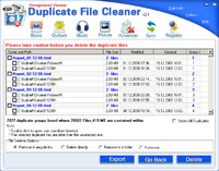 Duplicate Files Cleaner v2009.091 - System Utilities / System Maintenance Software