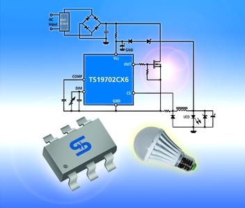 Neues von setron: Taiwan Semiconductor TS19702 Single-Stage High Power Factor Corrector LED-Treiber