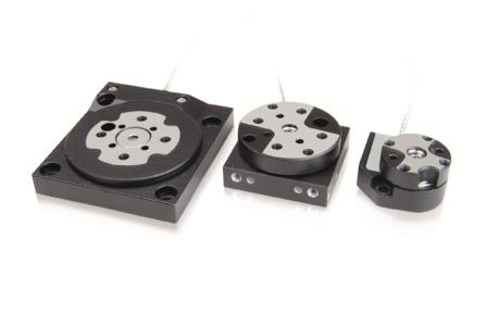 Miniature rotation stages of the piezomotor Q-Motion series with rotary plate diameters of 30, 22, and 14 mm