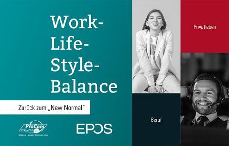 Kampagne Work-Life-Style-Balance für Mitarbeiterzufriedenheit im Beruf und Privatleben