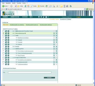 Screenshot AcademyMaker®