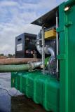 Leistungsstarke Kreiselpumpen befüllen den Speicher-Container in kurzer Zeit. Foto: Ellermann-Ganderkesee // Zoller-Elmshorn