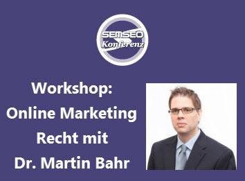 Workshop mit Dr. Martin Bahr
