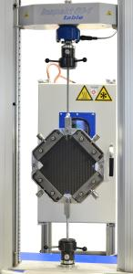 Scherrahmenprüfsystem in einer Universalprüfmaschine Inspekt table 50kN