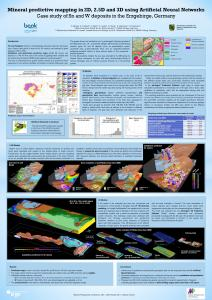 Results of mineral predictive mapping in the Erzgebirge using advangeo® Prediction Software and advangeo® 3D Prediction Software