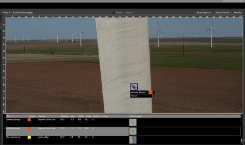 Picture  - AI enabled wind blade damage detection -  Sulzer Schmid  - LR