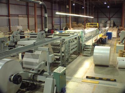 With their new sheeter, SureCut can run three webs at a time.