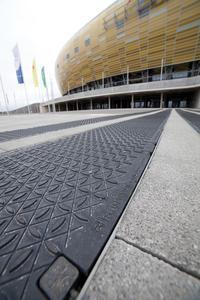 Außenansicht des Stadions in Danzig, Copyright: Hauraton
