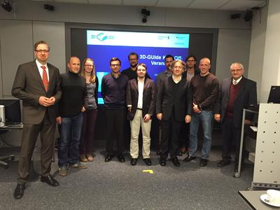 KickOff-Meeting des 3D-GUIde-Teams