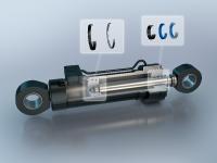 Das Freudenberg Perfect-Cylinder-Programm besteht aus Kolbendichtungen (Guivex Führungsband und HDP 330 Hochdruck-Kolbendichtung) und Stangendichtungen (Guivex Führungsband, 94 AU 30000 Stangendichtung und 94 AU 30000 Abstreifer), v.l.n.r.