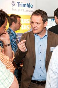Für Carsten Holtrup, Vice President Sales Europe bei Trimble Transport & Logistics, ist die Fachmesse eine gute Gelegenheit, sich mit Branchenkollegen über die neuesten Trends auszutauschen und spannende Live-Demonstration von Produkten zu erleben