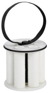 Bei dem desaliQ Inline-Filtermodul handelt es sich ebenfalls um ein neues Produkt von Grünbeck. Es wird zusammen mit dem Beutelharz in die Mischbettpatrone desaliQ:MB9 eingesetzt. Durch die große Filteroberfläche und den Hochleistungsmagneten werden Verunreinigungen effizient aus dem Heizkreislauf entfernt, Bilder: Grünbeck Wasseraufbereitung GmbH