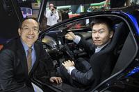 Techrules at Geneva 2016 - William Jin, Chairman (L) and Matthew Jin, CTO (R)