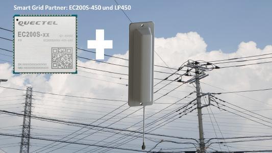 4G LTE Modul EC200S-EU-450 und Antenne LP450 für Smart Grid